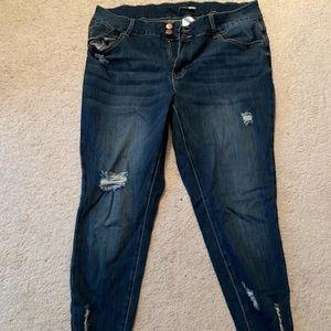 Denim - Plus Sized Distressed Jeans (never worn)